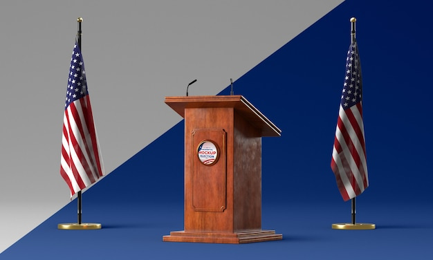 Us elections concept mock-up