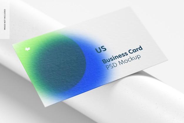 Us landscape business card mockup