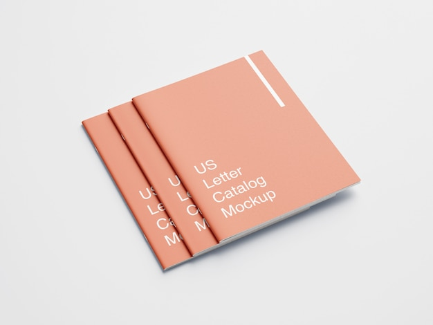 Us letter cover book or magazine mockup