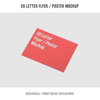 Us letter flyer or poster mockup concept