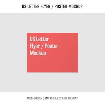 Us letter flyer or poster mockup