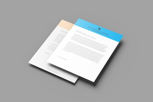 Us letter paper flyer mockup