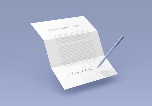 Макет бумаги для писем сша