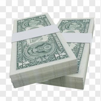 Доллар сша валюта доллар 1: стопка банкноты доллара сша сша