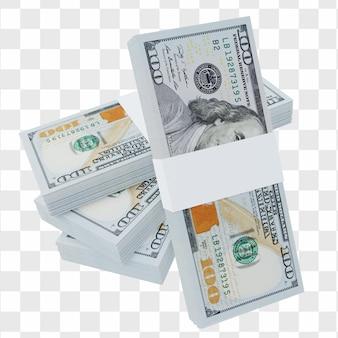 Доллар сша 100 долларов сша: стопка банкноты доллара сша сша