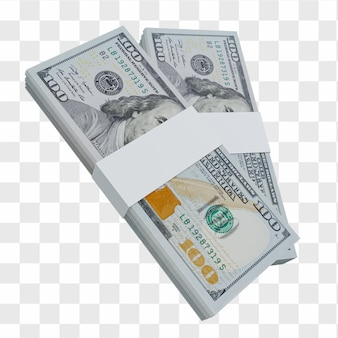 미국 통화 달러 100: 미국 달러 미국 지폐의 스택