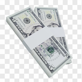 Доллар сша валюта 5: стопка банкноты доллара сша сша