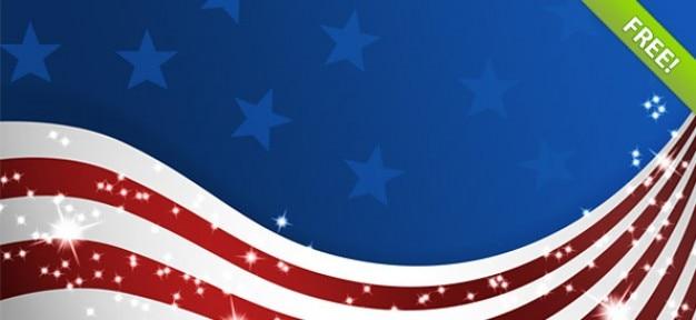 Usa flags psd – american patriotic set
