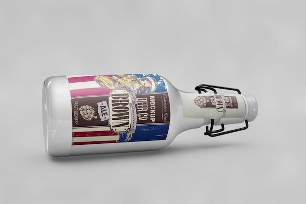 Макет бутылки с флагом usa