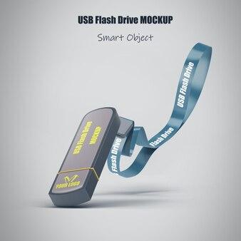 Usb flash drive mockup isolated