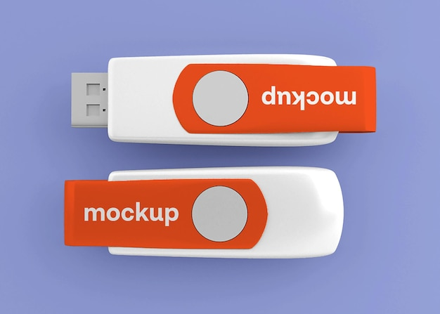 Usb flash drive stick mockup isolated