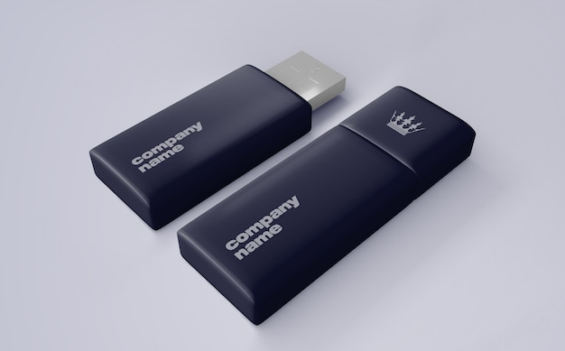 Usb stick mockup for merchandising