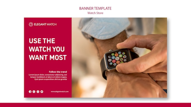 Use the watch you want most banner template