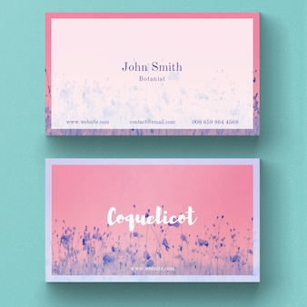 Useful floral business card