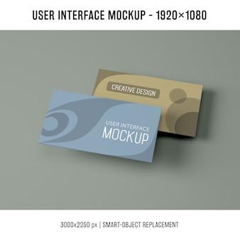 User interface mockup