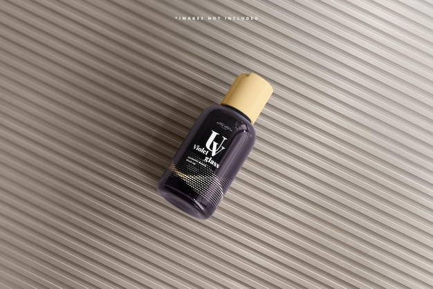 Uvガラス化粧品ボトルモックアップ