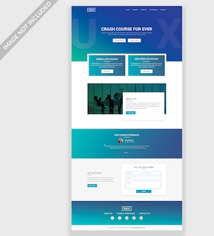 Ux website psd template design