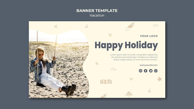 Vacation ad banner template