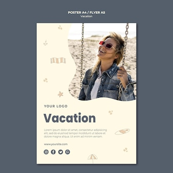 Vacation ad flyer template