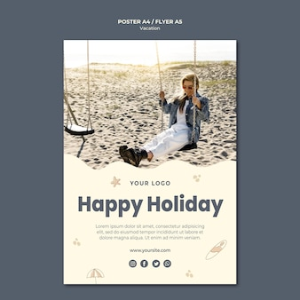 Vacation ad poster template