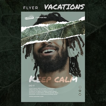 Vacation concept flyer template