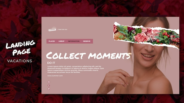 Vacation concept landing page template
