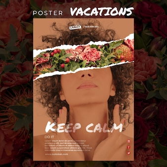 Vacation concept poster template
