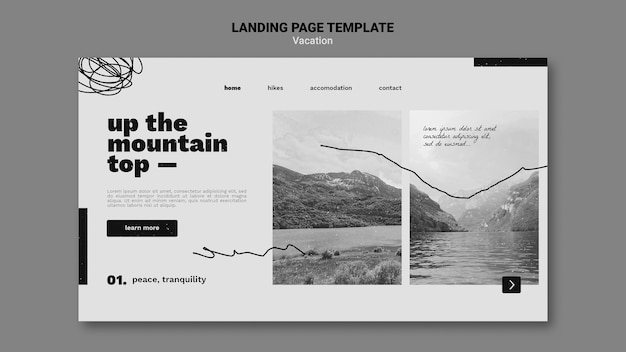 Vacation offer landing page