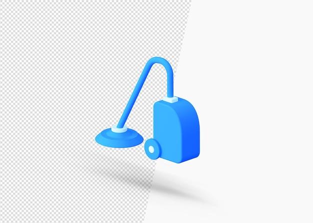 掃除機の側面図3dアイコン