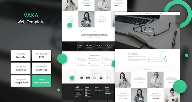 Vaka business and agency web template
