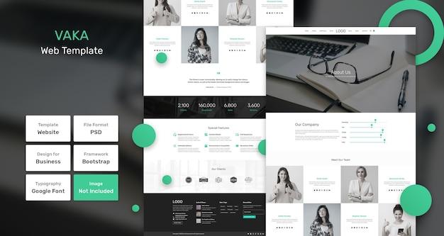 Веб-шаблон для бизнеса и агентства vaka