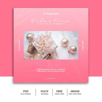 valentine banner social media post instagram gift
