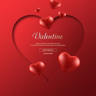 バレンタインバナー Premium Psd