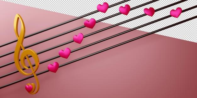 Валентина концепция в 3d-рендеринг изолированные