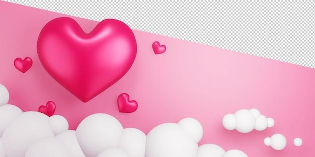 Валентина концепция с пустой дисплей 3d-рендеринга