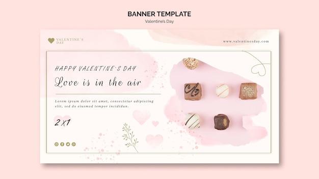Modello di banner di san valentino
