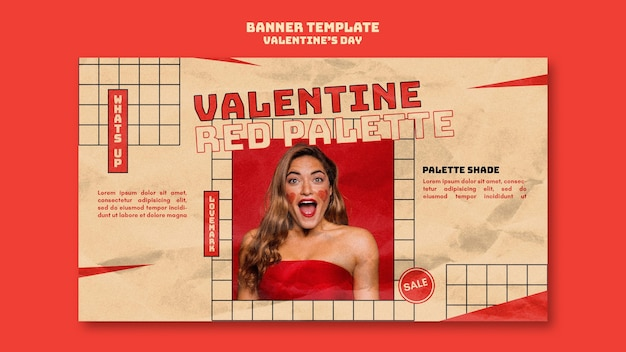 Valentine day banner template