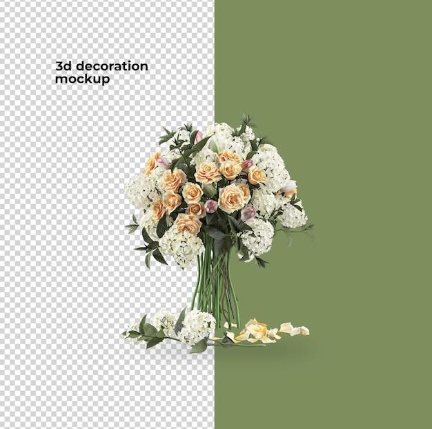 バレンタインデーの装飾の花のモックアップデザイン