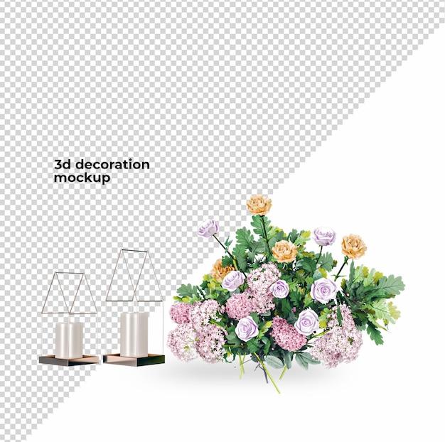 バレンタインデーの花の室内装飾