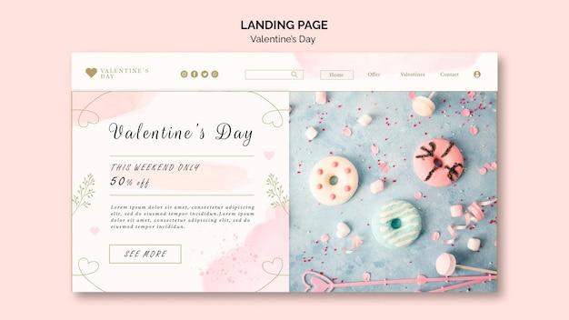 Pagina di destinazione del giorno di san valentino