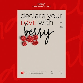 발렌타인 데이 포스터 템플릿