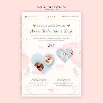 Modello di poster di san valentino Psd Gratuite