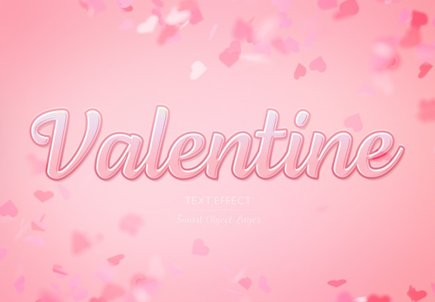 Valentine day text effect mockup