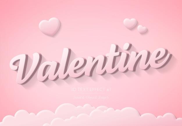 Valentine day text effect
