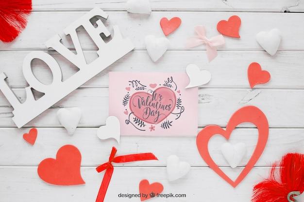 Элементы valentine и макет карты