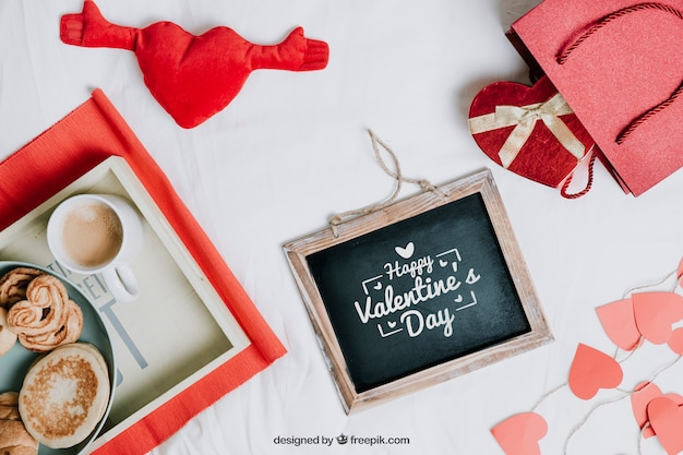 Valentine elements and frame mockup