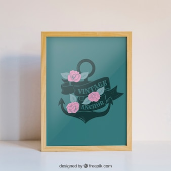 Valentine elements and frame mockup
