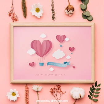 Valentine frame mockup