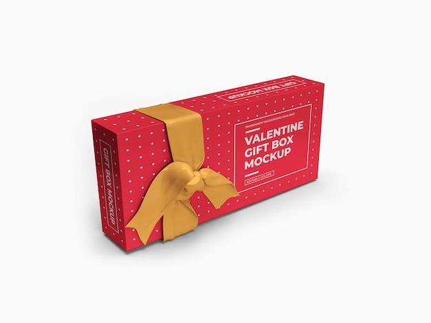 Валентина подарочная коробка макет дизайн изолированные