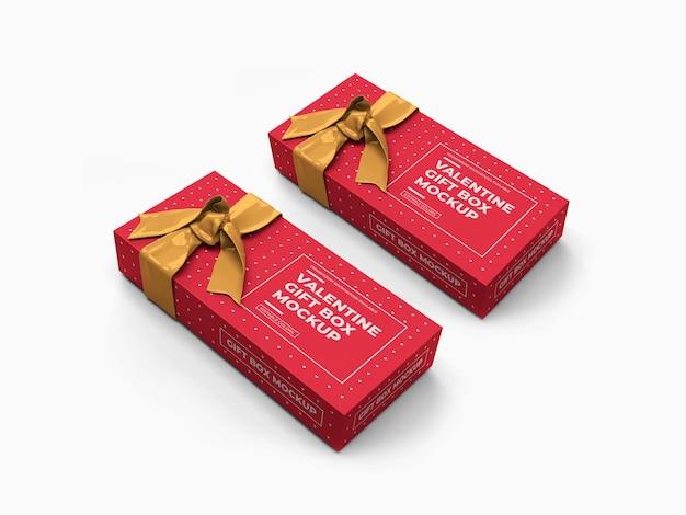 발렌타인 선물 상자 모형 디자인